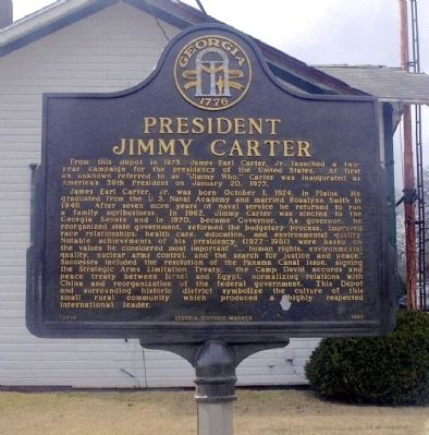 President Jimmy Carter Marker image. Click for full size.