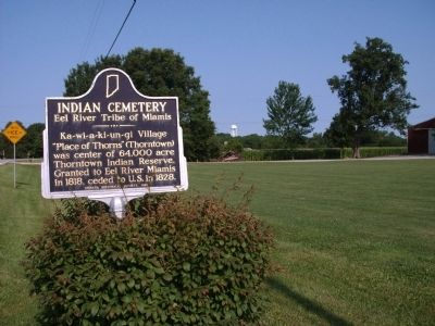Looking West - - Indian Cemetery Marker image. Click for full size.