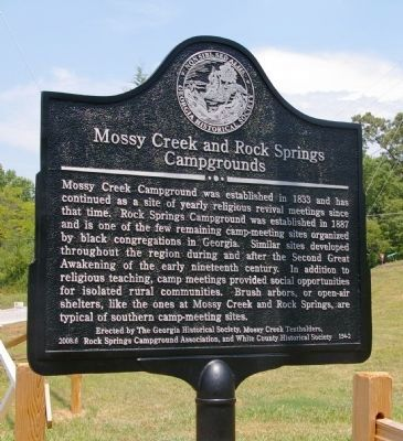 Mossy Creek and Rock Springs Campgrounds Marker image. Click for full size.