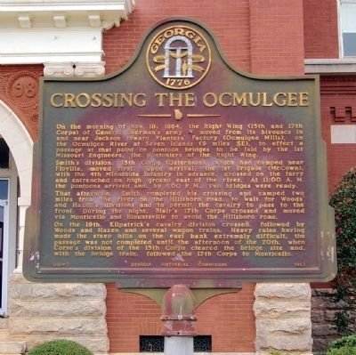 Crossing the Ocmulgee Marker image. Click for full size.