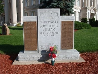Boone County (Indiana) Veterans Marker image. Click for full size.