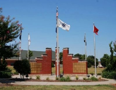 Anderson County Veterans Monument -<br>East Side image. Click for full size.