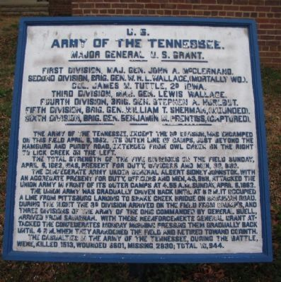 Army of the Tennessee Tablet image. Click for full size.