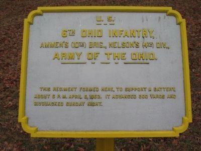 6th Ohio Infantry Tablet image. Click for full size.