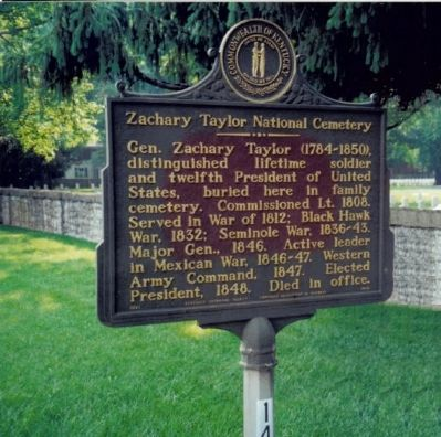 Zachary Taylor National Cemetery Marker image. Click for full size.