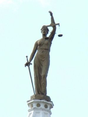 Lady Justice atop the Marion County Courthouse image. Click for full size.