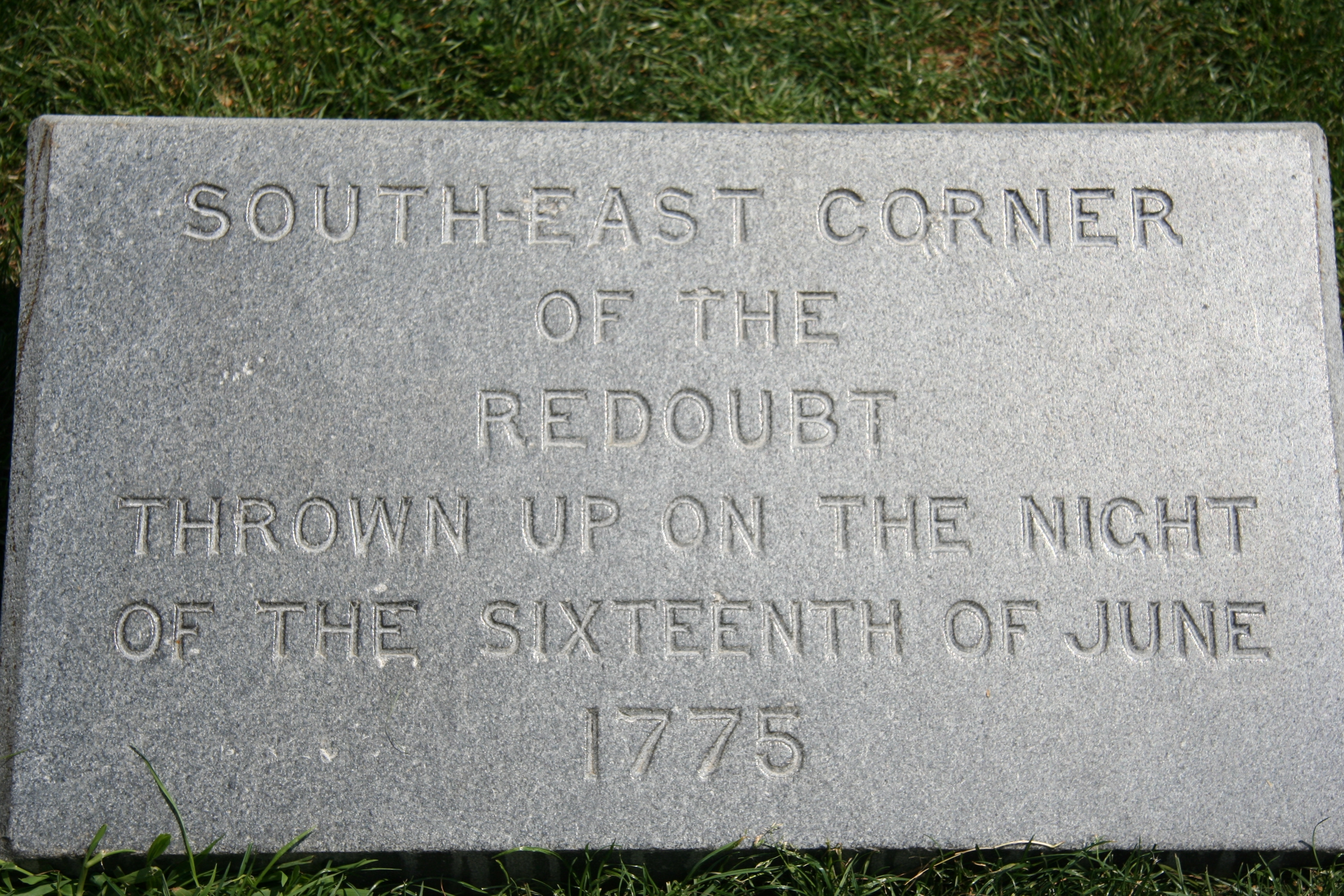 South-East Corner of the Redoubt Marker