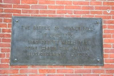 The Battle of Bunker Hill Marker image. Click for full size.