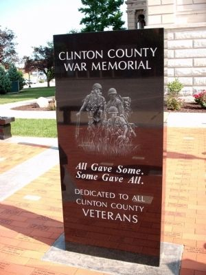 Clinton County (Indiana) War Memorial Marker image. Click for full size.