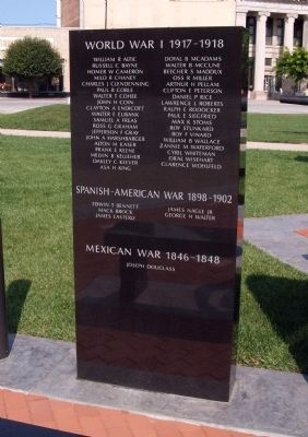 Left Small Panel of War Memorial Marker image. Click for full size.