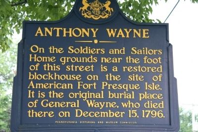 Anthony Wayne Marker image. Click for full size.
