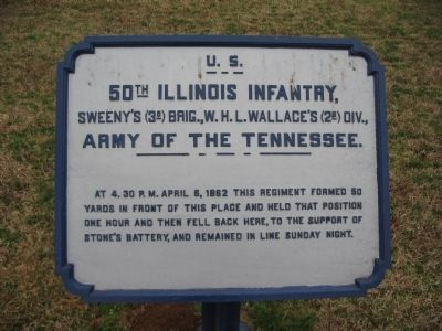 50th Illinois Infantry Tablet image. Click for full size.