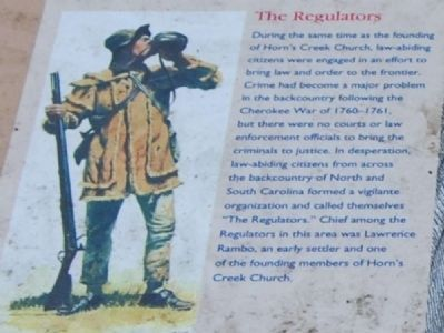 Horn's Creek Church Marker - The Regulators image. Click for full size.