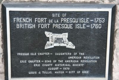 Presque Isle Forts Marker image. Click for full size.