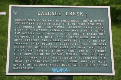 Cascade Creek Marker image. Click for full size.
