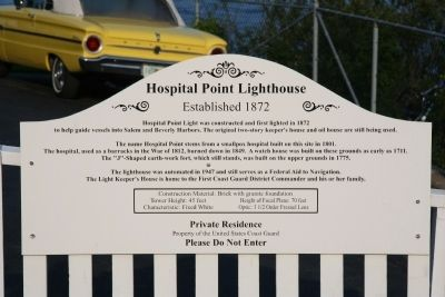 Hospital Point Lighthouse Marker image. Click for full size.