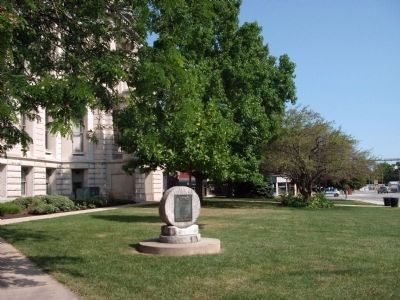 Revolutionary War Memorial - - Few Steps Away - S/E Corner of Courthouse Lawn image. Click for full size.
