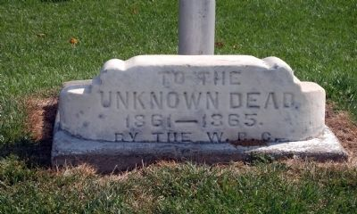 Civil War - Unknown Dead Memorial Stone image. Click for full size.