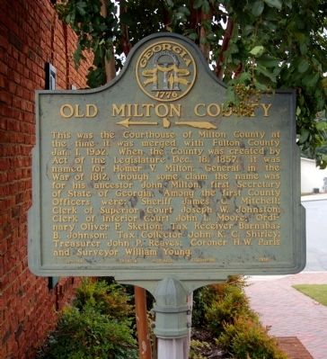 Old Milton County Marker image. Click for full size.