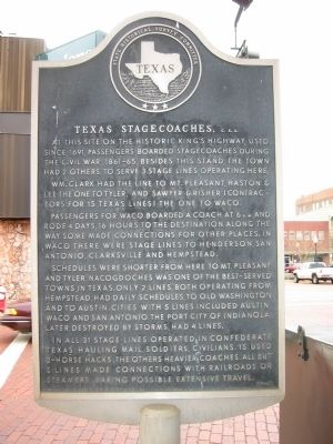 Texas Stagecoaches, C.S.A. Marker image. Click for full size.