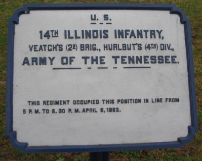 14th Illinois Infantry Tablet image. Click for full size.