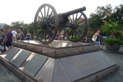 The Washington Artillery Park Memorial Cannon (Model 1861 Parrott Rifle) image. Click for full size.