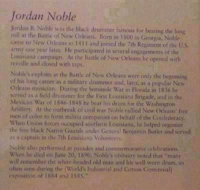 Jordan B. Noble, the Washington Artillery's renowned black drummer image. Click for full size.