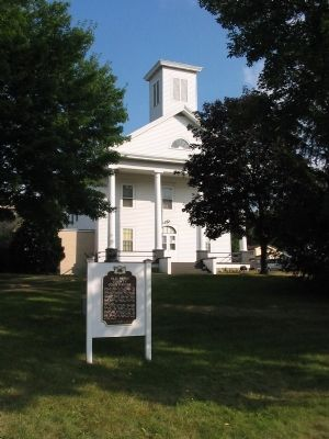 Old Pepin County Courthouse and Marker image. Click for full size.