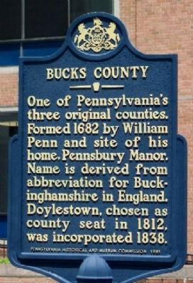 Bucks County Marker image. Click for full size.