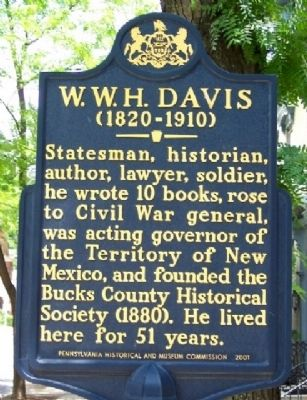 W. W. H. Davis Marker image. Click for full size.