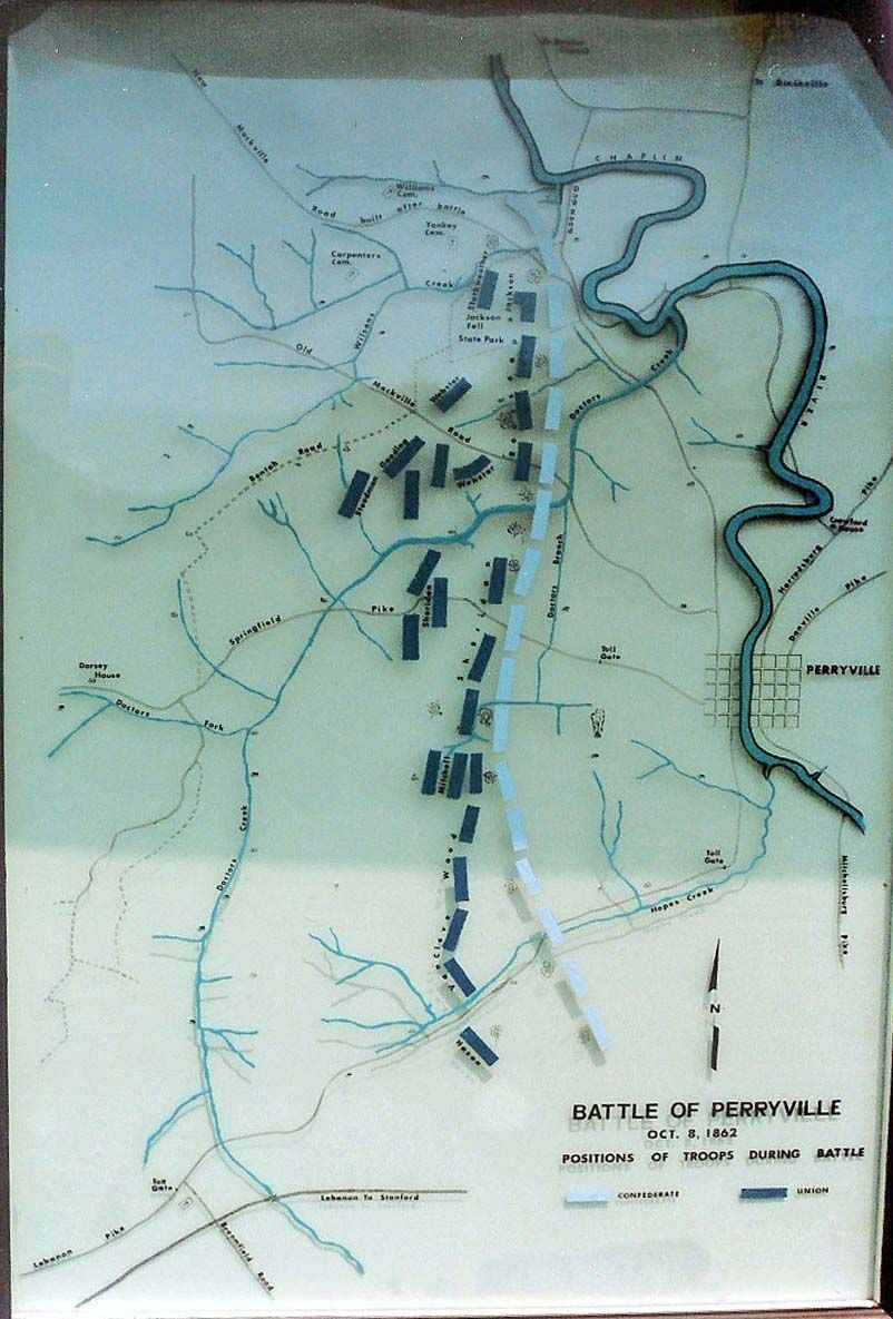 Battle of Perryville Map