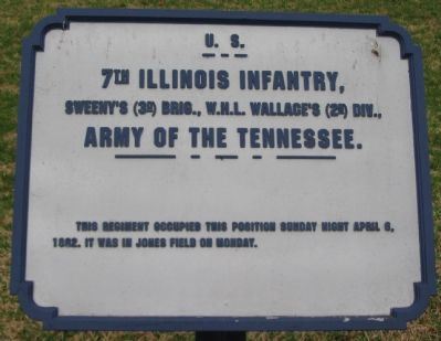 7th Illinois Infantry Tablet image. Click for full size.