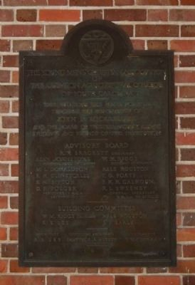Holtzendorff Hall Plaque image. Click for full size.