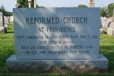 Reformed Church at Providence Marker image. Click for full size.