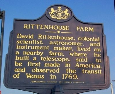 Rittenhouse Farm Marker image. Click for full size.
