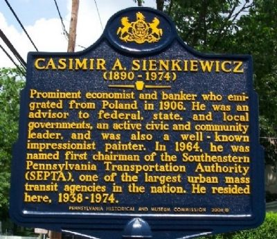 Casimir A. Sienkiewicz Marker image. Click for full size.