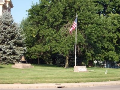 North / East Corner - - Benton County Courthouse Lawn image. Click for full size.