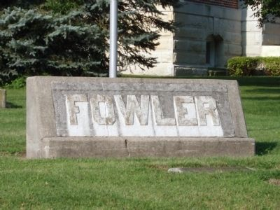 """Fowler"" Stone by Flag - - N/E Corner of Benton County Courthouse Lawn image. Click for full size."
