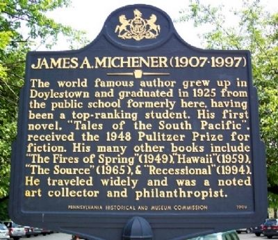James A. Michener Marker image. Click for full size.