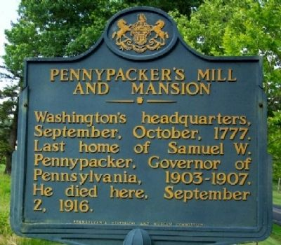 Pennypacker's Mill and Mansion Marker image. Click for full size.