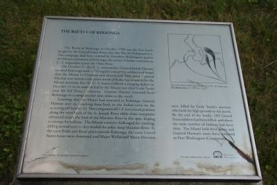 The Battle of Kekionga Marker image. Click for full size.