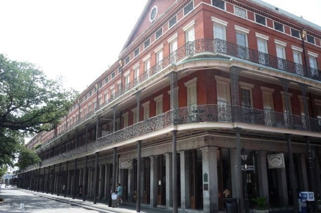 Upper Pontabla Building - at Chartres and St. Peter Streets, French Quarter, New Orleans image. Click for full size.
