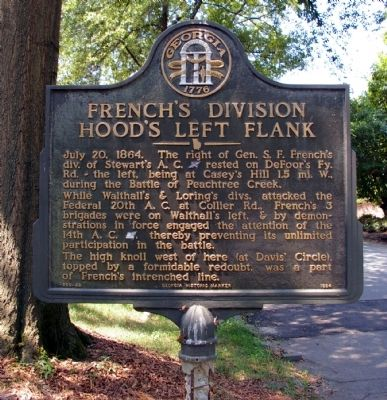 French's Division Hood's Left Flank Marker image. Click for full size.