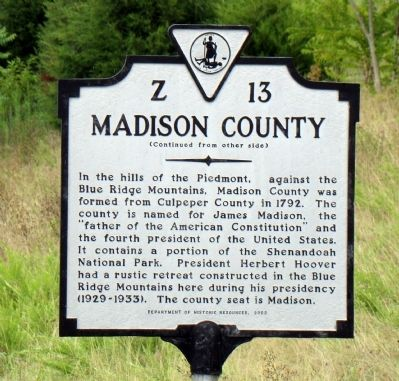 Madison County Face of Marker image. Click for full size.