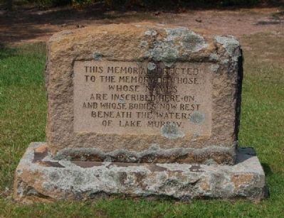 Third Memorial to Those Buried<br>Under the Waters of Lake Murray image. Click for full size.