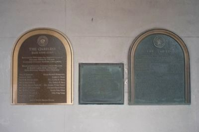 The Cabildo Marker Panel 2 - seen together with adjacent State of Louisiana markers image. Click for full size.