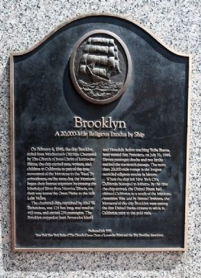Brooklyn: a 20,000-Mile Religous Exodus by Ship Marker image. Click for full size.