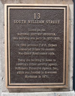 13 South William Street Marker image. Click for full size.