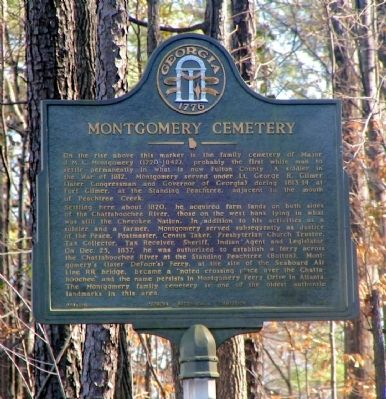Montgomery Cemetery Marker image. Click for full size.