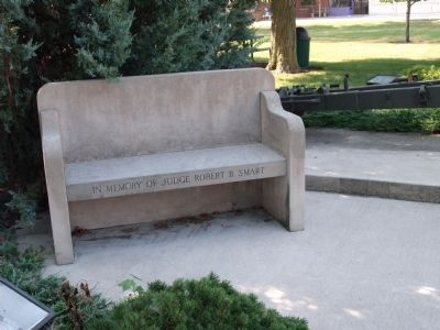 "Bench - - "" Memory of Judge Robert B. Smart "" image. Click for full size."